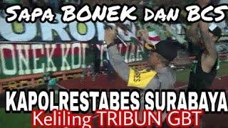Respect..!! Kapolrestabes Sby kombes Rudi setiawan menyapa dan Chant Bareng Bonek - BCS