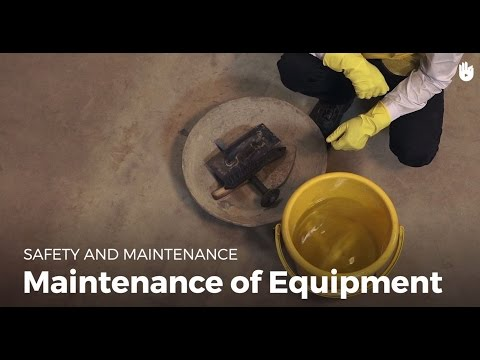 Maintenance Of Equipment | Masonry