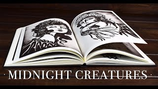 Art Book Flip Through ''Midnight Creatures'' by Emils Salmins  ASMR