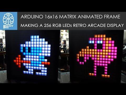 Arduino 16x16 WS2812B RGB Matrix Animation Picture Frame - Tutorial