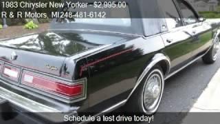 1983 Chrysler New Yorker Fifth Avenue 4dr Sedan for sale in