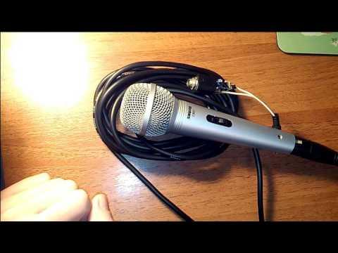 Подключение динамического микрофона для караоке к компьютеру | Самодельный микрофонный предусилитель