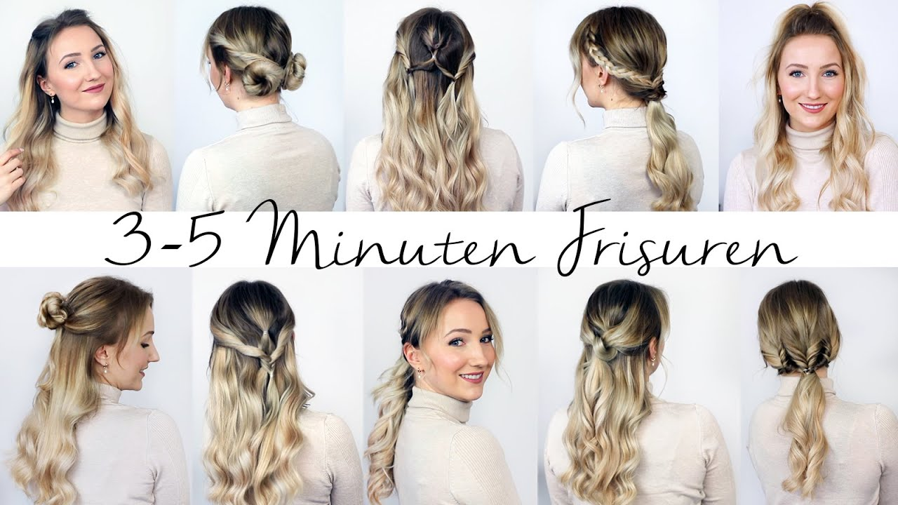 8 MINUTEN FRISUREN - unkompliziert und schnell! 8 Frisuren für den Alltag  - TheBeauty8go
