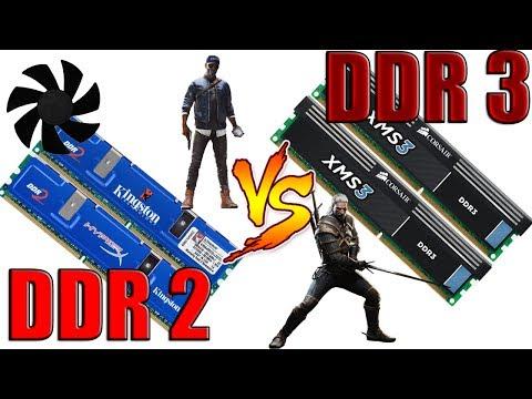 DDR2 VS DDR3 в 2017