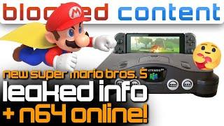 New Super Mario Bros. 5 LEAK (Hyper Mushroom, Cape Mario) + N64 Games On SWITCH - LEAK SPEAK!