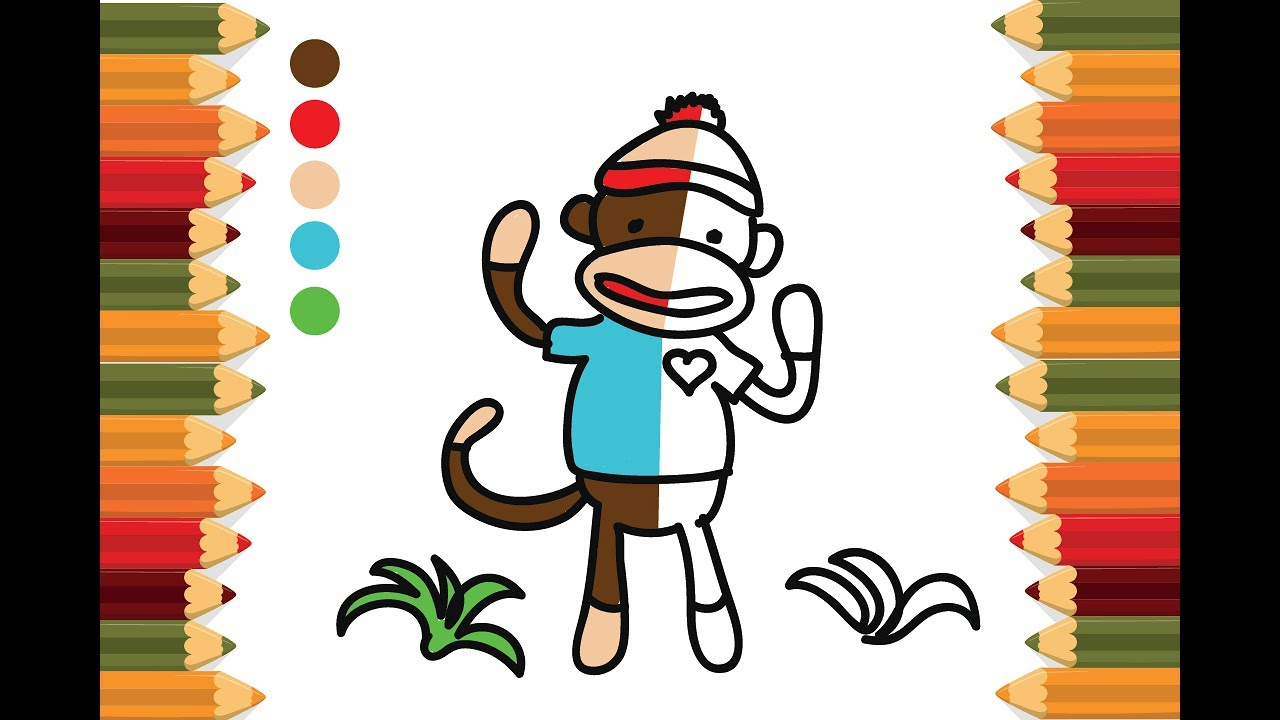 Mr. Sock Monkey coloring page | Free Printable Coloring Pages | 720x1280
