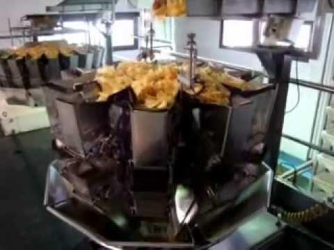 Linea para envasado de patatas chips