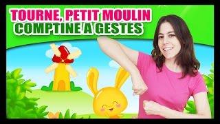 Gambar cover Tourne, tourne, petit moulin - Comptines à gestes pour bébés - Titounis