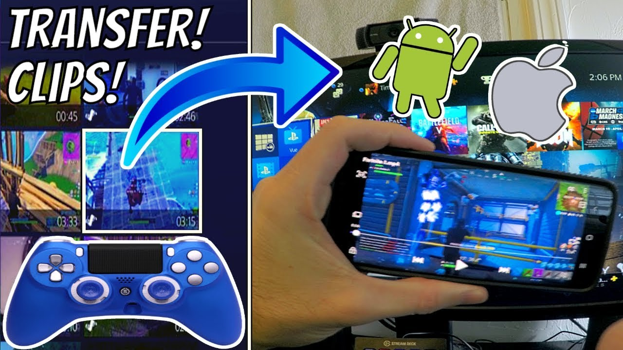 How to TRANSFER PS4 CLIPS to your PHONE! (ANDROID & IOS) (BEST METHOD) (NO  USB NEEDED!)