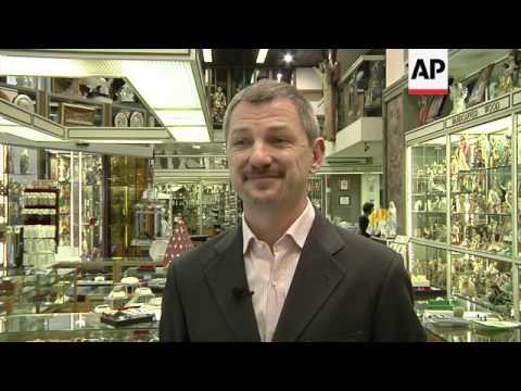 Pope memorabilia and souvenirs are big business