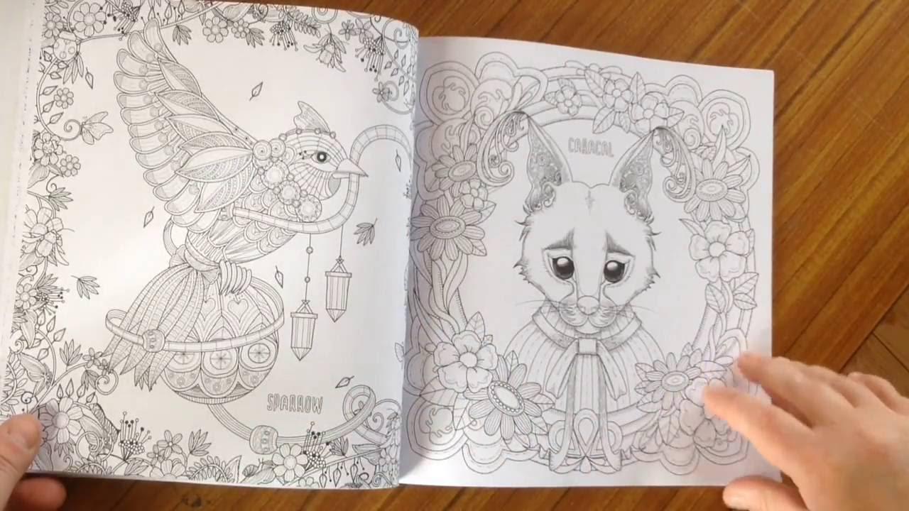 FANTASTIC ANIMALS coloring book - flip through - YouTube