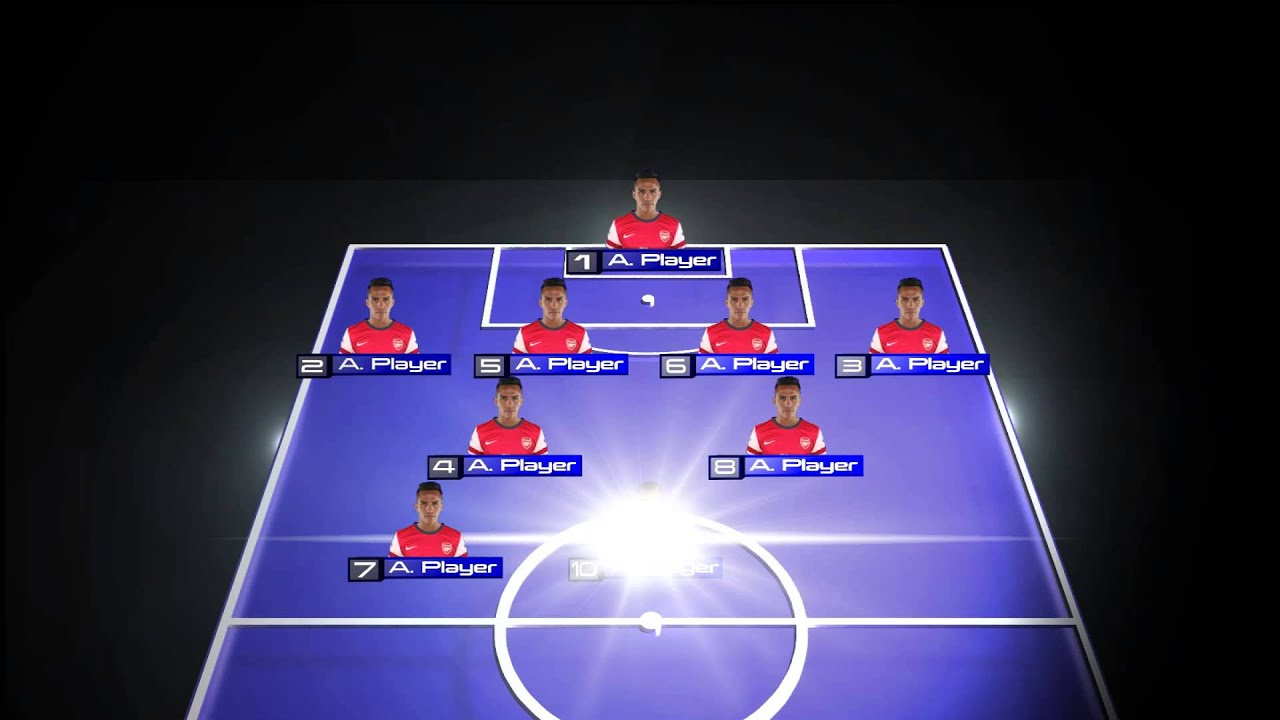 Pre Match Animated Line Up Football Graphics Youtube