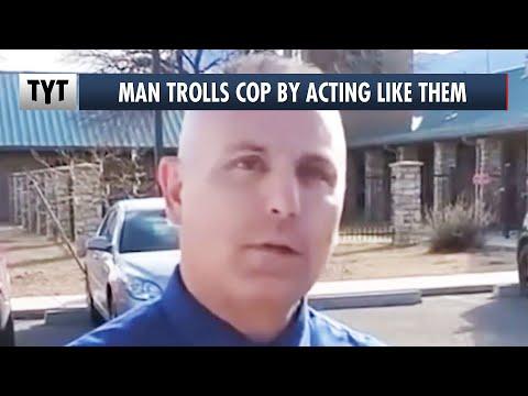 Cop REACTS To Man Interrogating Him