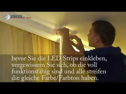 indirekte beleuchtung led reflektorstreifen youtube. Black Bedroom Furniture Sets. Home Design Ideas