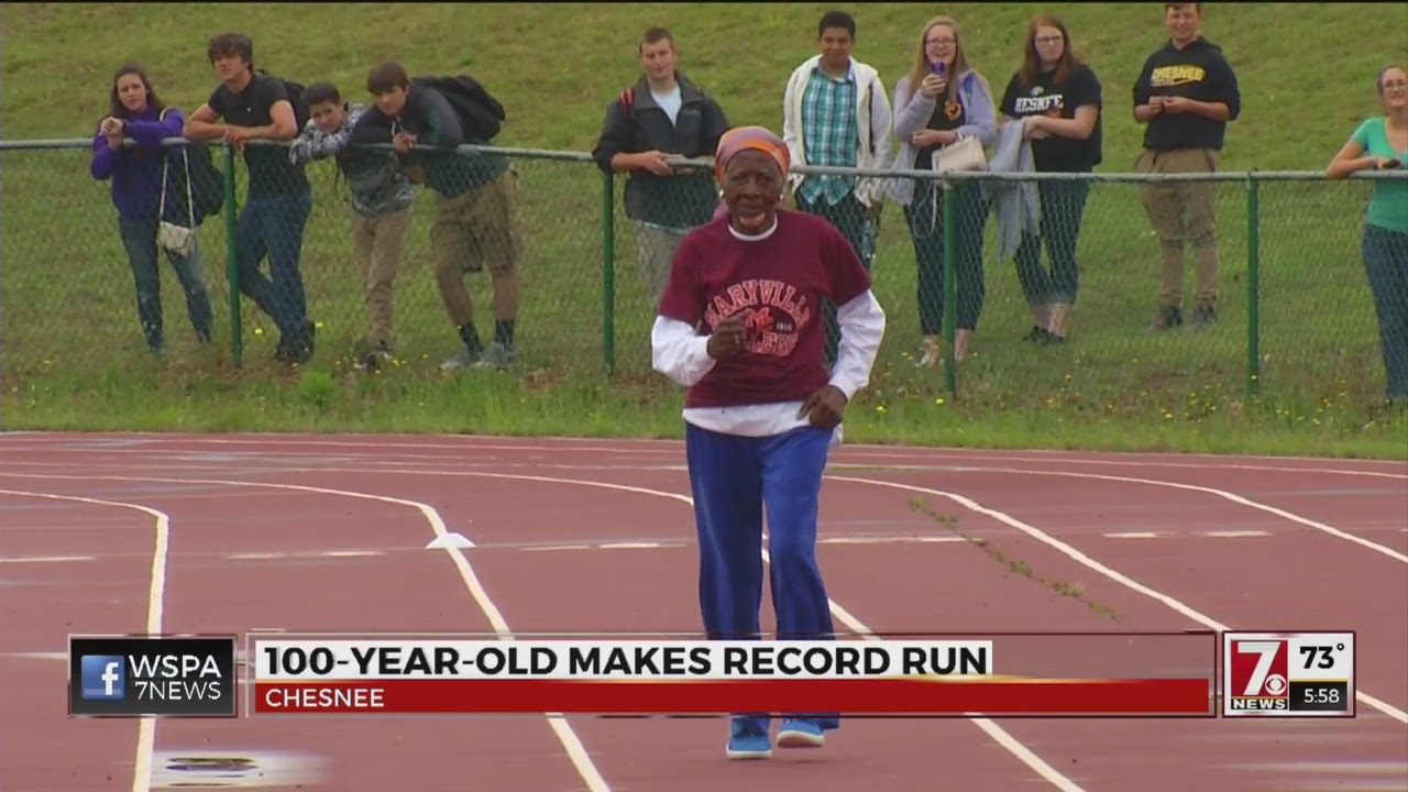 100-year-old woman shatters 100 meter dash record in Chesnee