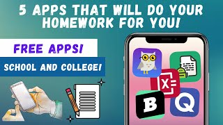 Top 5 Apps That Will Do YOUR Homework For You!   Best School and College Apps (2021) screenshot 3