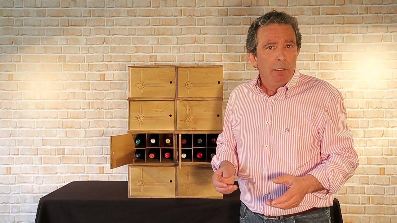 Botellero chardonel caja apilable para 6 botellas youtube - Botellero de madera para vino ...