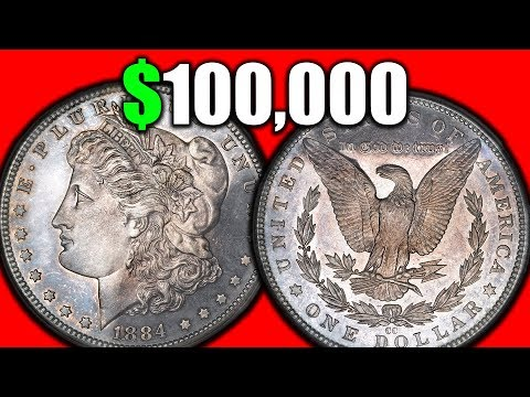 EXTREMELY VALUABLE SILVER MORGAN DOLLAR COINS!! 1884 SILVER DOLLARS WORTH MONEY