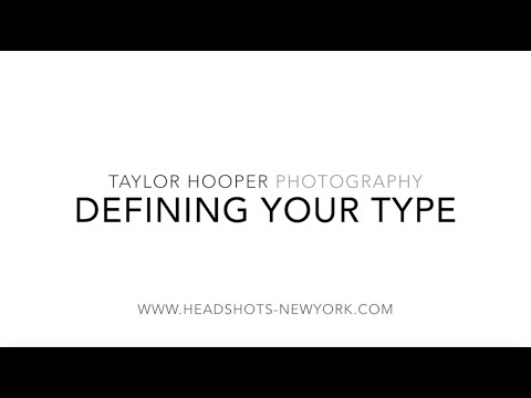 Acting as a Business Series, Episode 1: Defining your Type