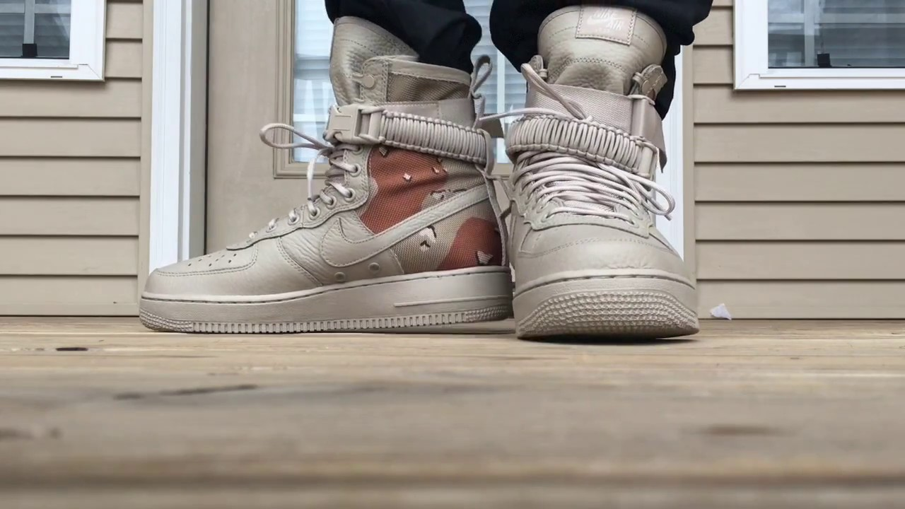 best service bab92 eb8b6 NIKE SF AIR FORCE 1 DESERT CAMO ON FOOT LOOK!!!
