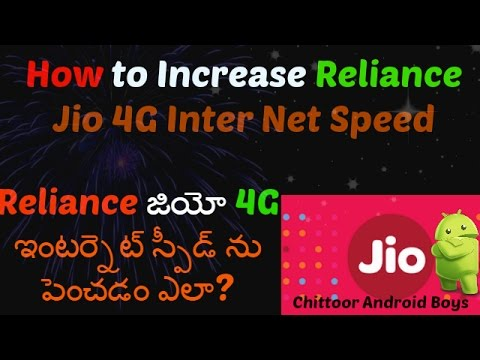How to Increase Jio 4G InterNet Speed? తెలుగు Video