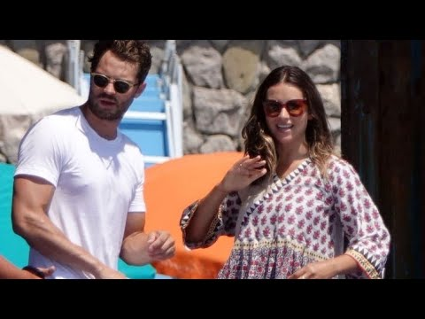 Jamie D0rnan and Wife Amelia Warner Set Sail on a Romantic a Boat Ride in Italy
