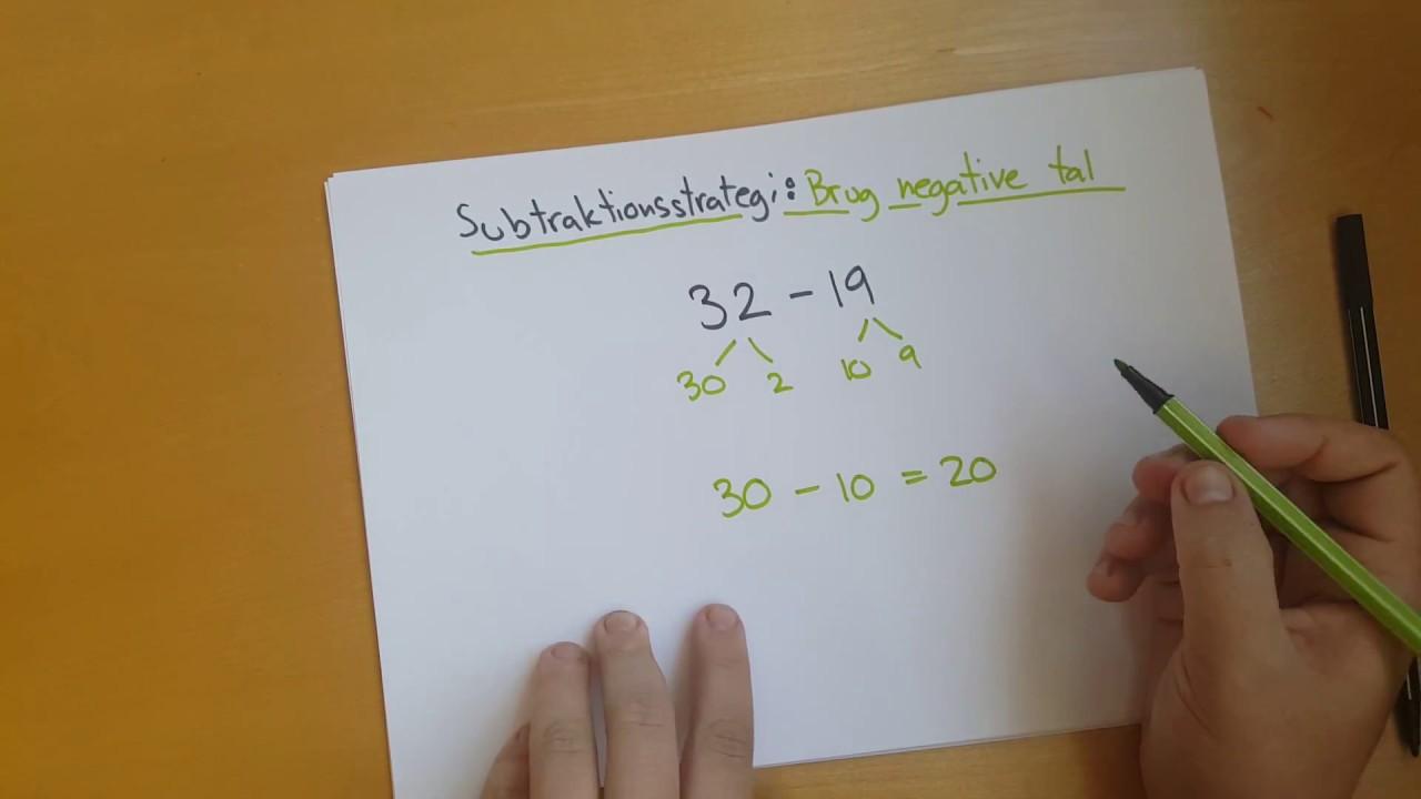 Subtraktionsstrategi: Brug negative tal