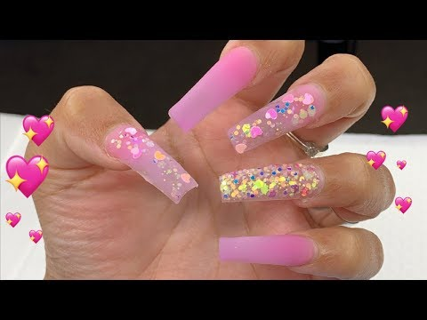 Doing My Own Valentines Nails | Nail Tutorial