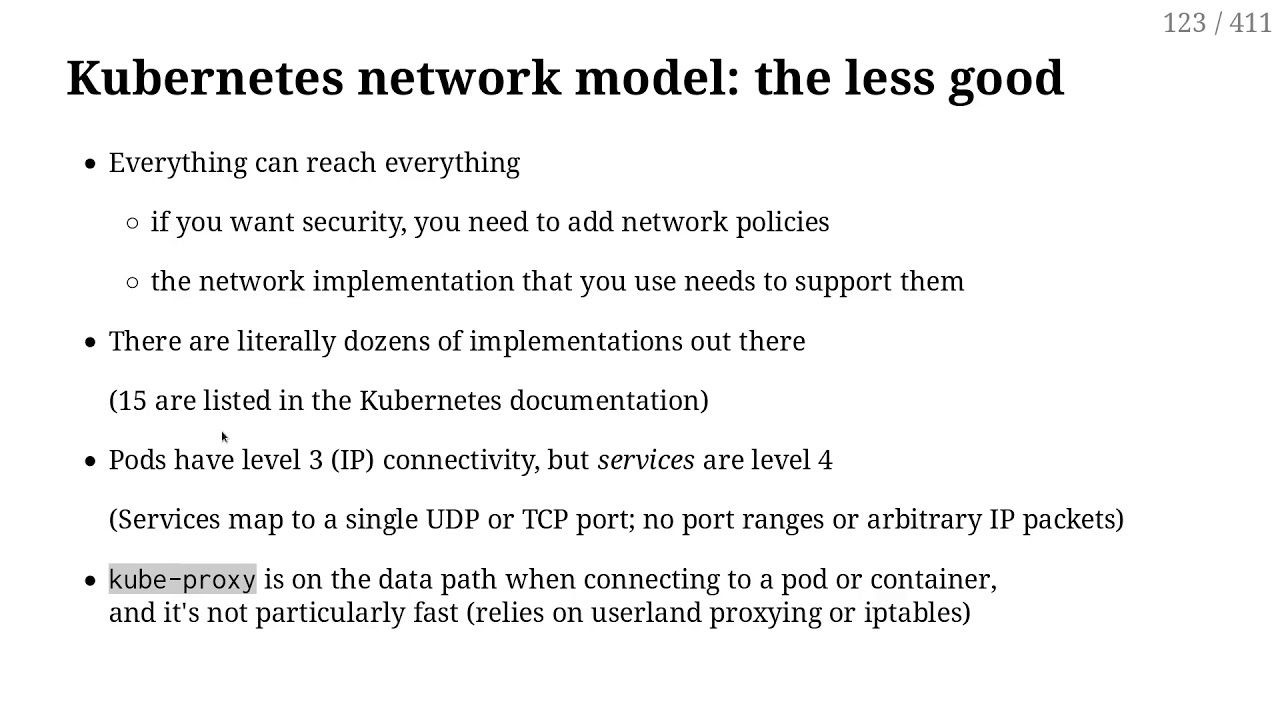 201 - The Kubernetes network model