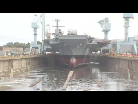 The Future USS John F. Kennedy Dry Dock Flooding