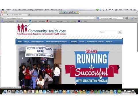 Voter Registration at Community Health Centers
