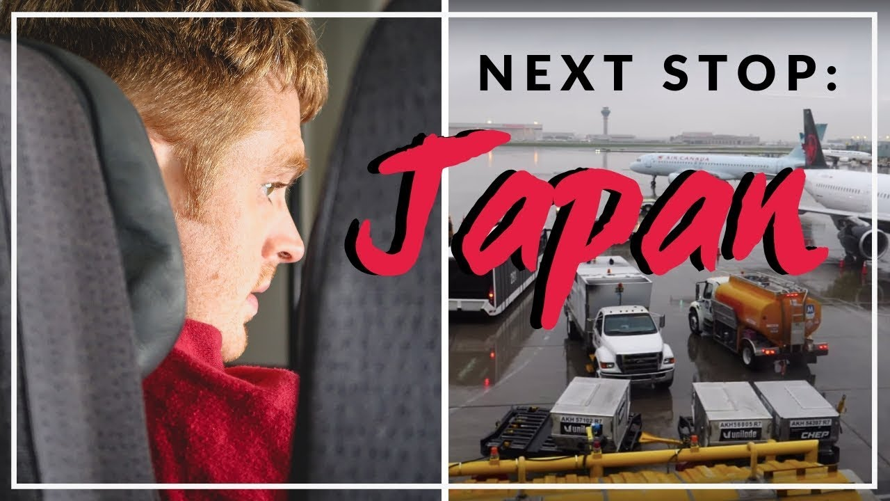 Our Japan Trip starts NOW! Flying to Japan from Canada Travel Vlog