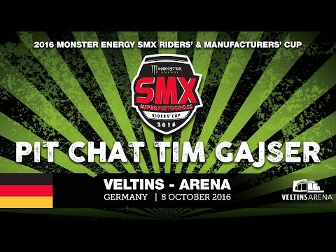 Pit Chat Tim Gajser Monster Energy SMX Riders' Cup 2016