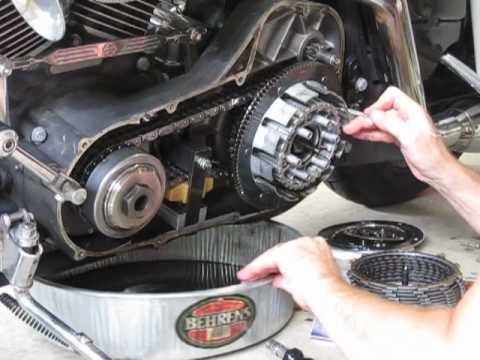 Harley clutch pack replacement on a twin cam 4/7 (install new clutch