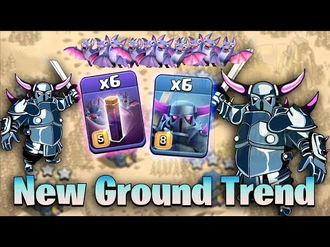 New Ground War Trend 2019! 6 Max Pekka 6 Max Bat Spell Destroy 3Star Max TH12 Base | Clash Of Clans