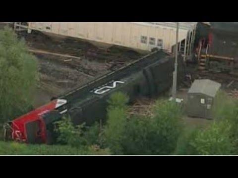 Wisconsin Train Derailment 2014:  2 Injured and 5,000 Gallons of Diesel Spilled