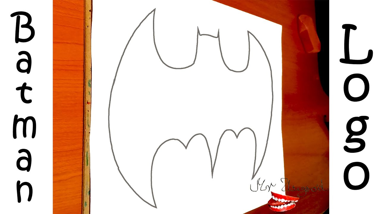 How to draw batman easy drawingnow - How To Draw Batman Logo Step By Step Easy For Kids On Paper Pencil Tutorial 2 2
