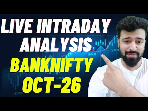26th October Live intraday Banknifty Option Chainanalysis #banknifty #priceaction #live #livetrading