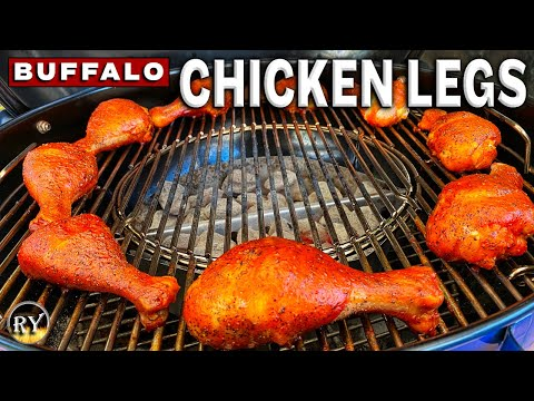 Big Buffalo Chicken Legs Grilled On The Weber Master-Touch Kettle