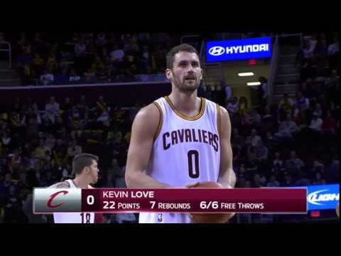Kevin Love And-One | Raptors vs Cavaliers | November 22, 2014 | NBA 2014-15 Season