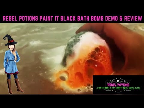 BATH TIME! Rebel Potions Paint It Black Bath Bubbler