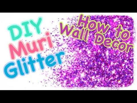 Parete Bianco Glitter : How to come applicare finitura glitter alle ...