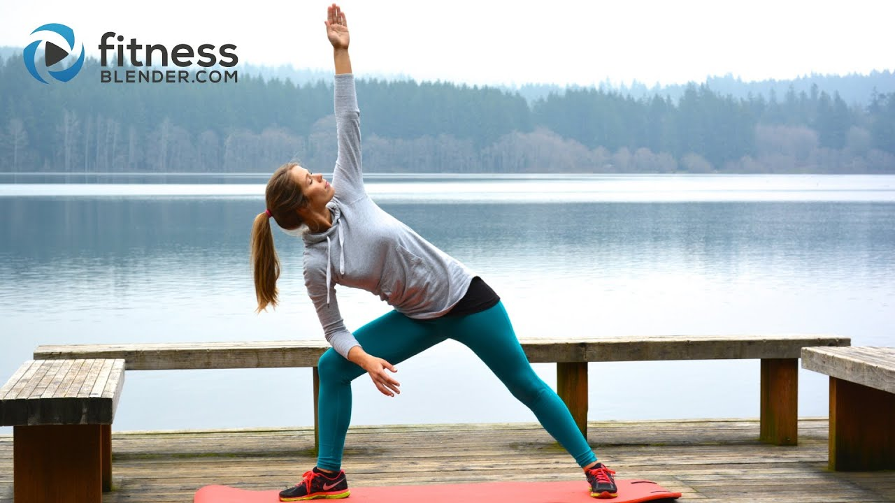 Lake Yoga Workout - Fluid Yoga Stretches for Flexibility, Toning & Stress  Relief - Cool Down Workout
