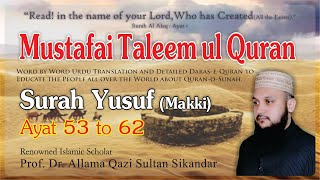 Gambar cover Surah Yusuf Ayat 53 to 62