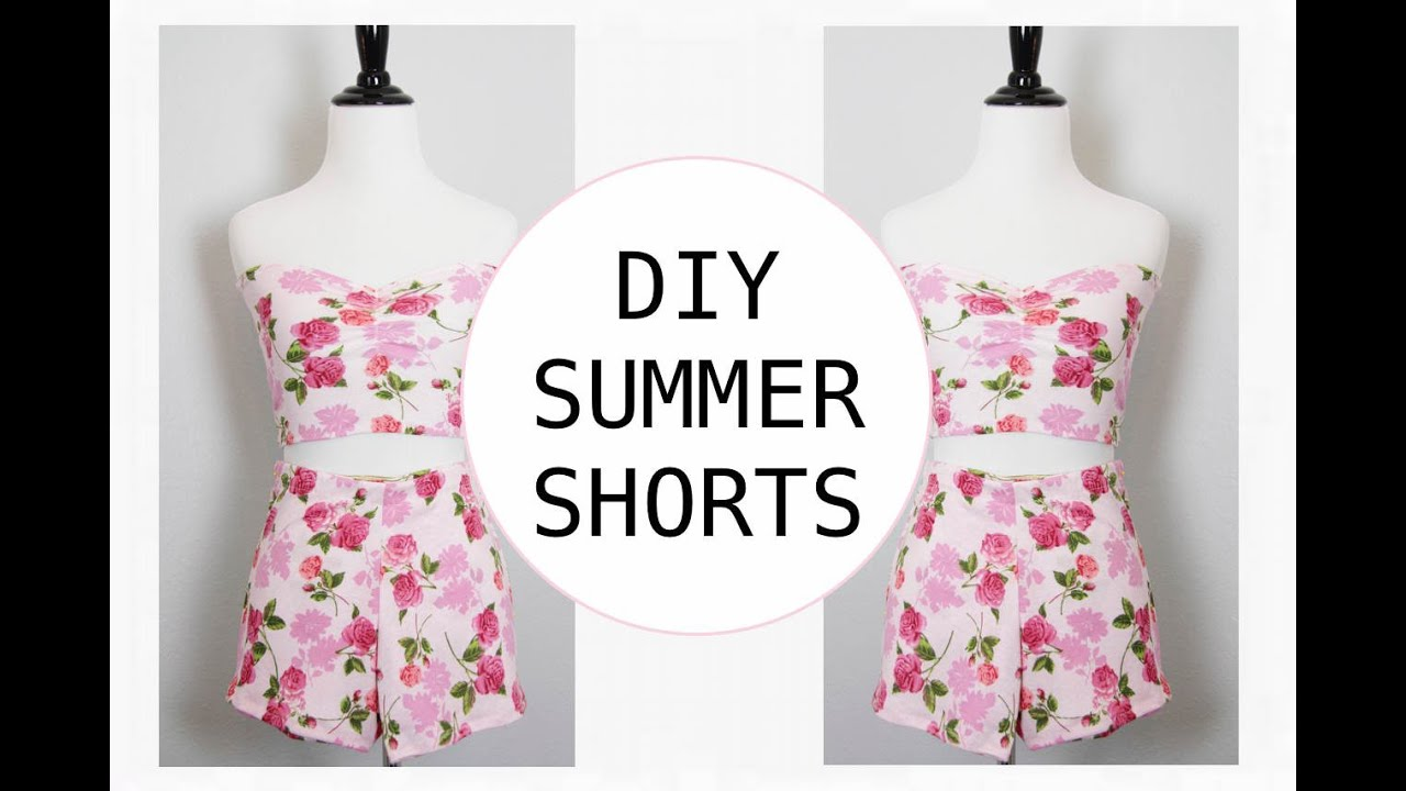 DIY Summer Shorts, Sewing Project for Beginners - YouTube
