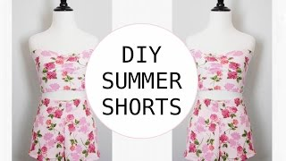 DIY Summer Shorts, Sewing Project for Beginners