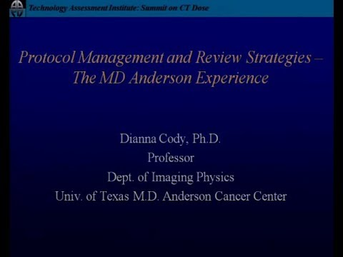 Protocol Management and Review Strategies   The MD Anderson Experience