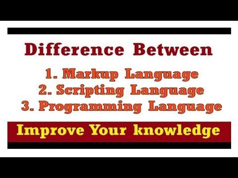 Diff Between Programming Language 💡 Scripting Language 💡 Markup Language