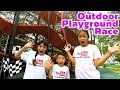 Outdoor Playground Jungle Gym Race Challenge In Real Life | Brianna's Secret Club