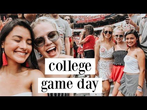 college game day: grwm + vlog